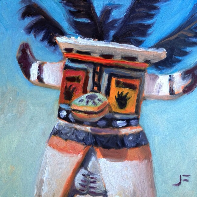 HONAN, BADGER KACHINA Daily Painting #859