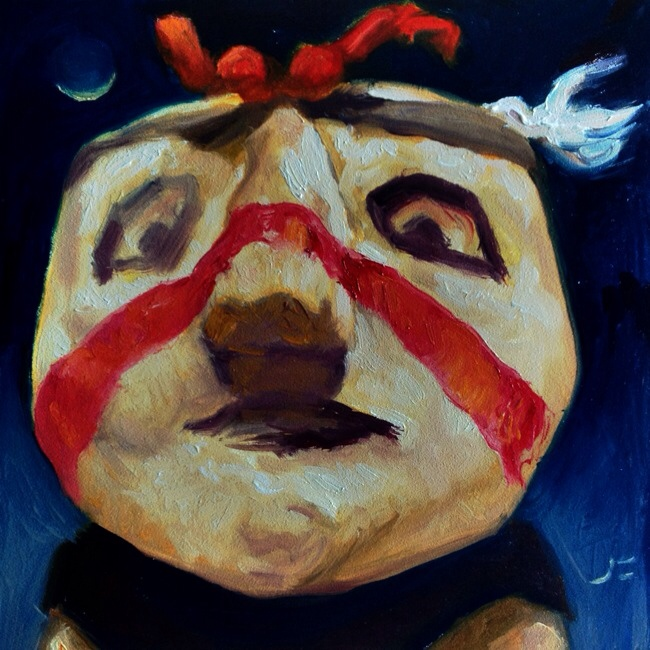PIPTU-WU-UQTI HOPI CLOWN Daily Painting #917