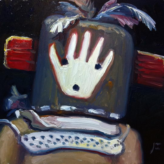 POT CARRIER MAN KACHINA (Sivu-i-qiltaqa) Daily Painting #346
