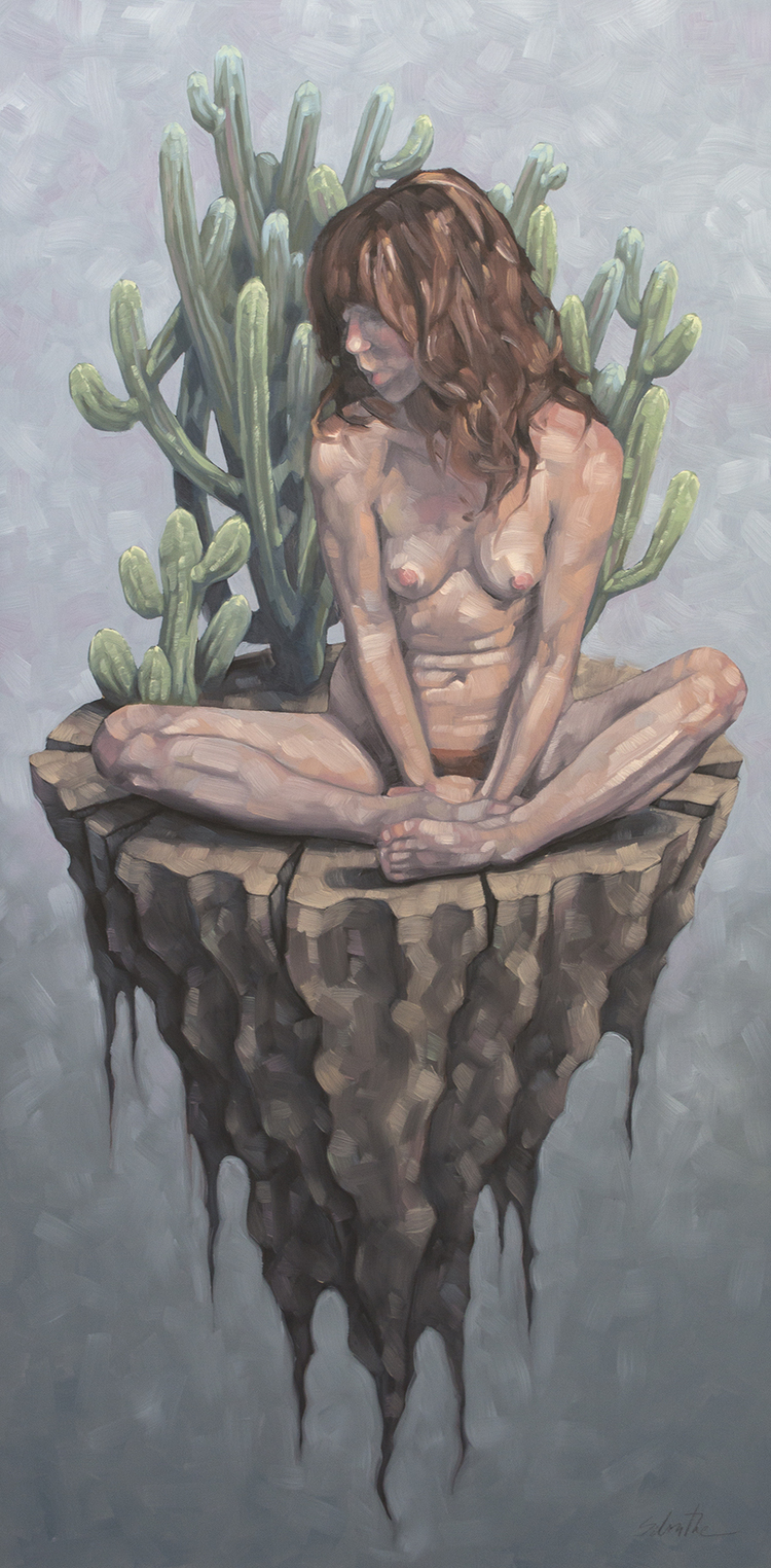"""Vivarium with Chichipe"", Oils on Hardboard, 12"" x 24"".pieceofdirt"