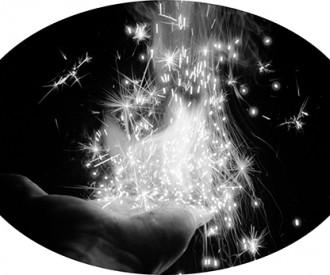Hand of Fire<br>Titanium, Artist's Hand<br>16 x 24